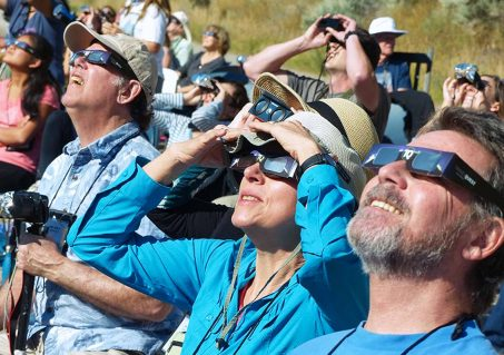 During an annular solar eclipse, it is never safe to remove your solar filters or eclipse-viewing glasses when looking at the Sun. (Photo by Cathrine Bryn/TQ)